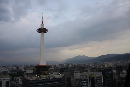 kyoto tower from kyoto station | by Doctor Memory