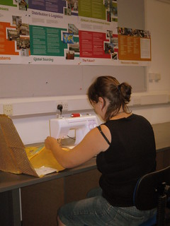 Tricia sewing jiffy bags | by ::Christine::