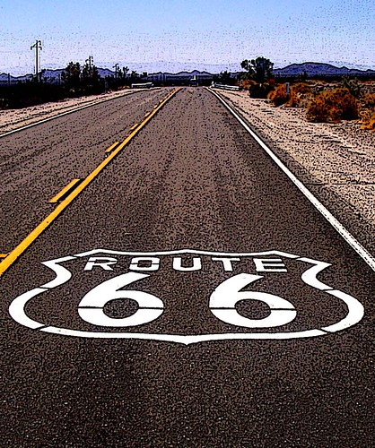 Route 66 Near Barstow, California (Poster Edges) | by Scandblue