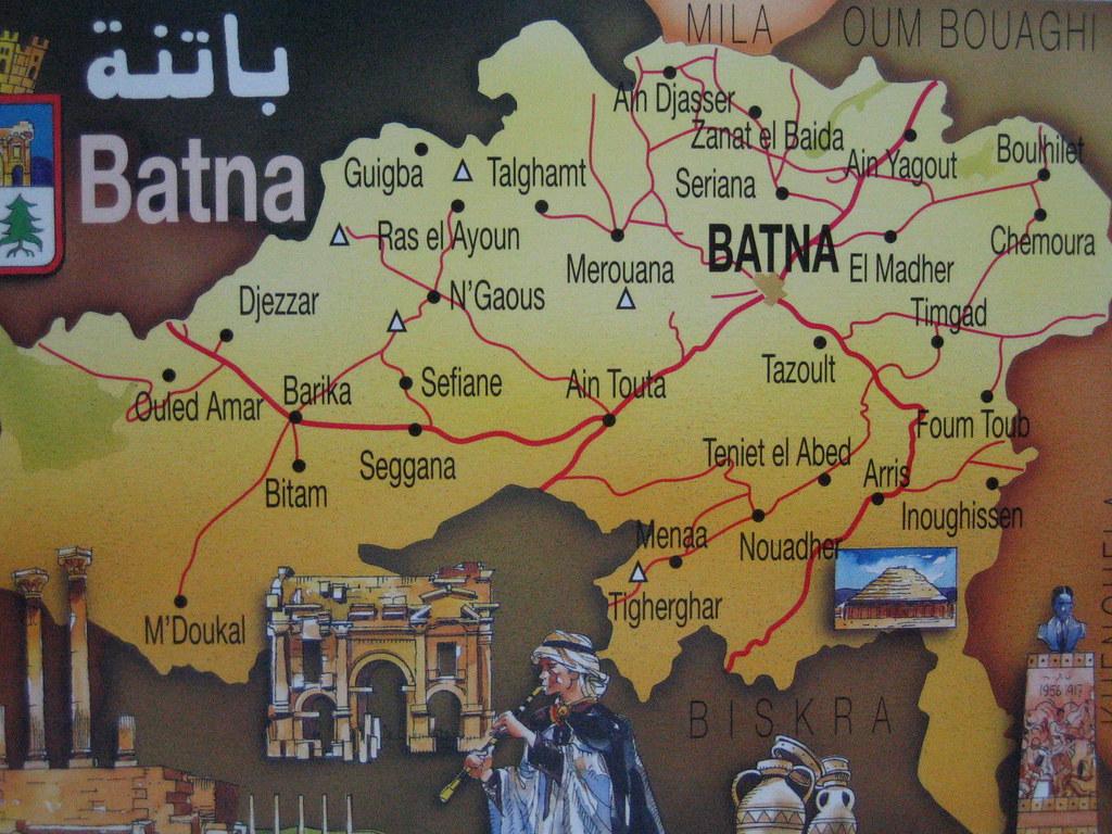 Town map Batna chickfinder Flickr