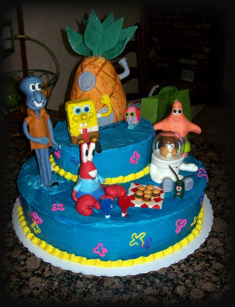 Bikini Bottom Spongebob Cake For My Sons 2nd Birthday No Flickr