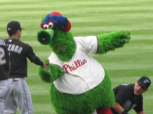 The Phanatic making friends with the Marlins | by Hazboy