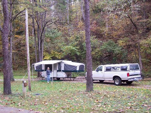 Our Campsite At The Middle Fork Campground There Are Two