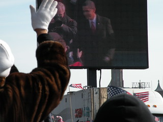 Waving at the JumboTron | by wnyc