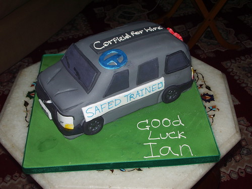 Volvo themed leaving cake | by platypus1974