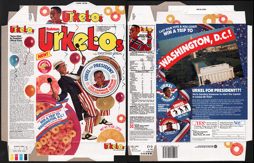 Ralston - Urkelos - Urkel For President - Cereal box - 1992 | by JasonLiebig