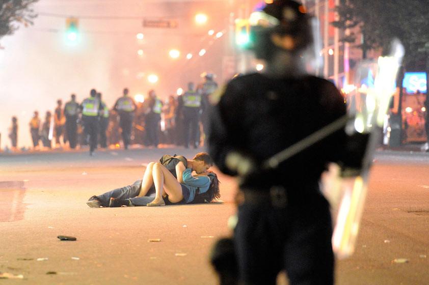 riot couple Vancouver