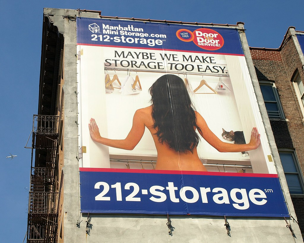 Superieur ... Manhattan Mini Storage Advertising Billboard, Midtown West NYC | By  Jag9889