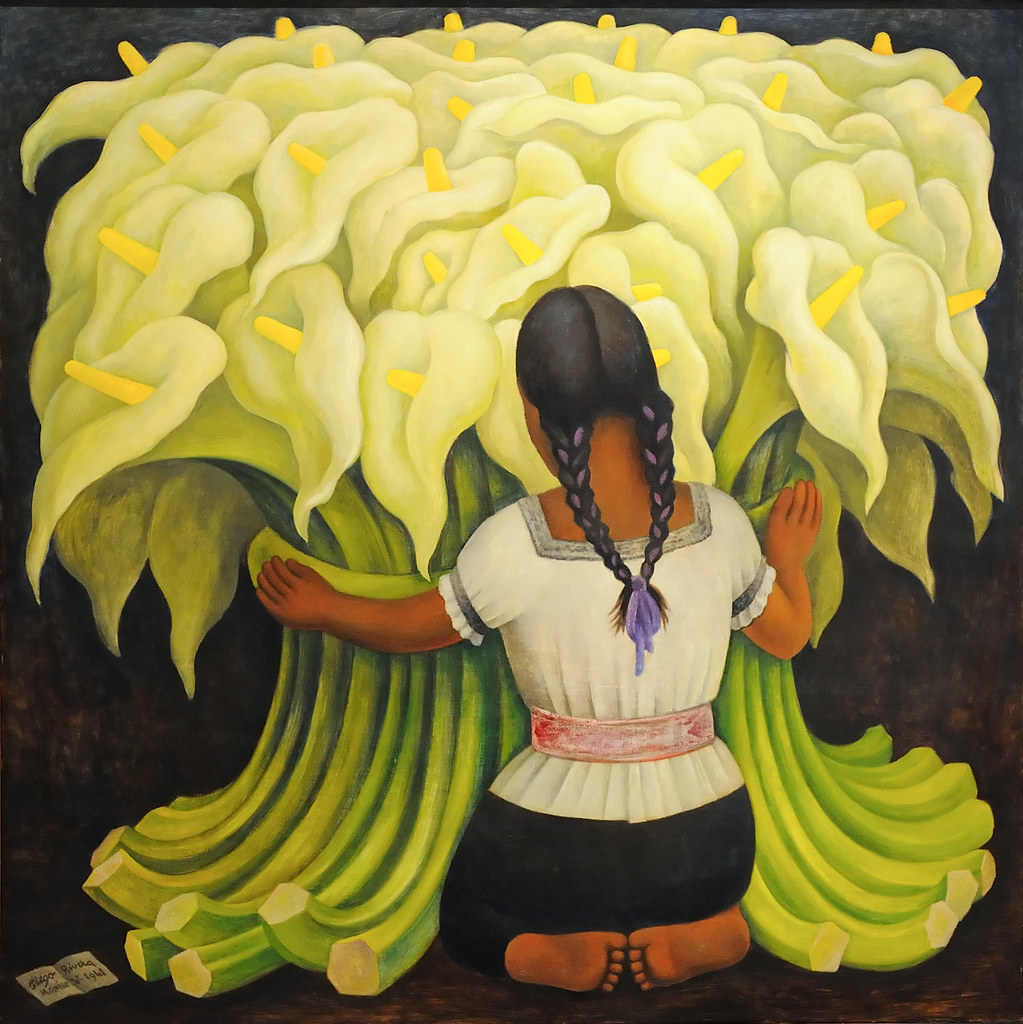 The Flower Vendor Girl With Lilies By Diego Rivera Flickr