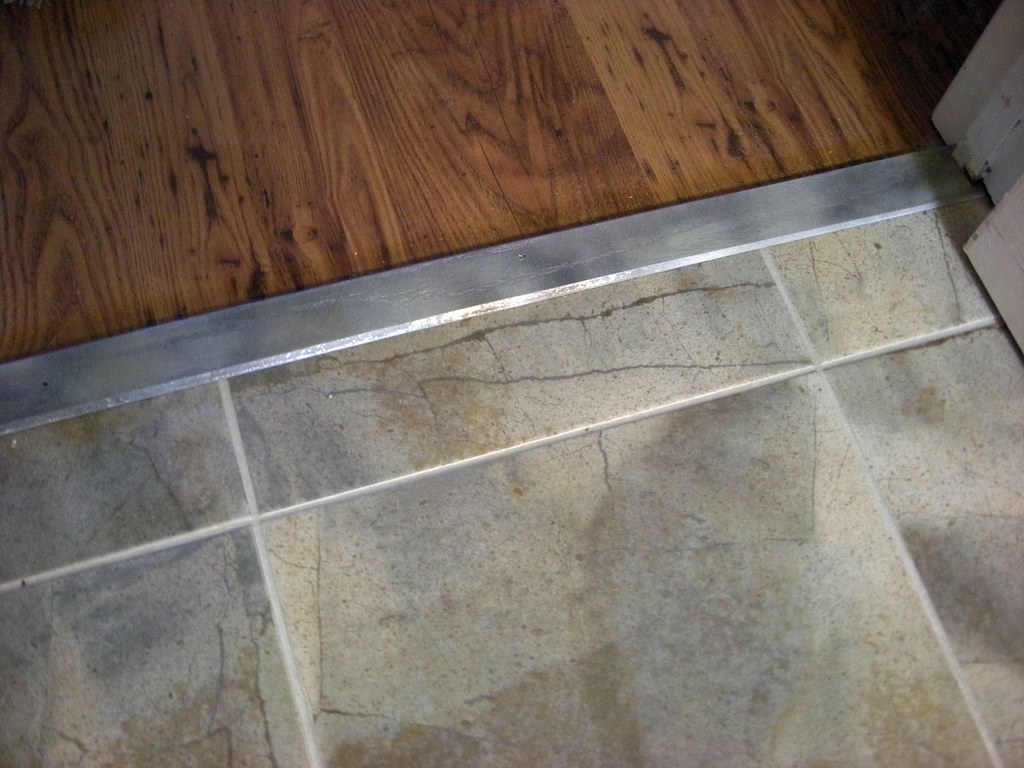 Popular Kitchen tile floor & threshold | Larry Miller | Flickr KC99
