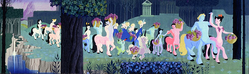 Welch 39 s grape juice mural at disneyland 1955 centaurs for Disneyland mural