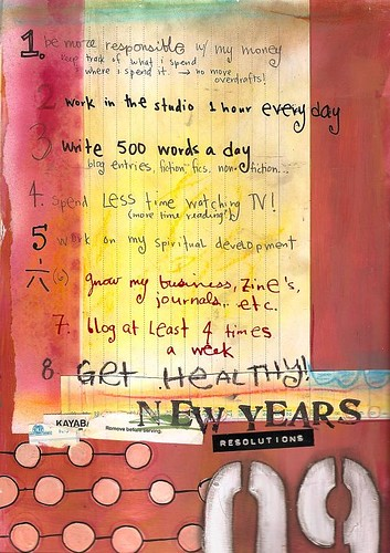 new year's resolutions, 2009 | by Samie Harding