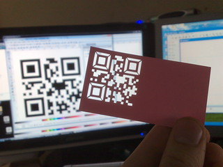 qr code business card - with a twist | by fridgehead