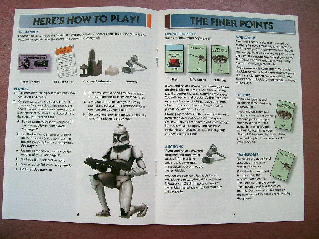 Star Wars The Clone Wars Monopoly Instruction Booklet | Flickr