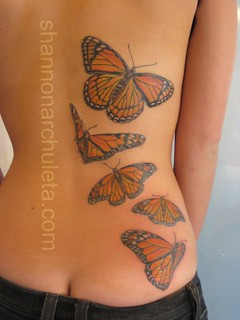 Finished Monarch Butterfly Tattoo | by Shannon Archuleta