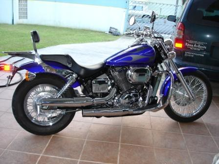 ... 2005   Blue W/Gray Flames Honda Shadow Spirit 750 By Cdelvalle | By  Uwe9999
