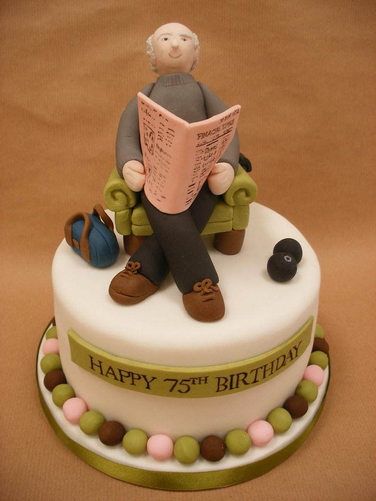 75th Birthday Cake Vanilla Sponge With Vanilla Buttercream Flickr