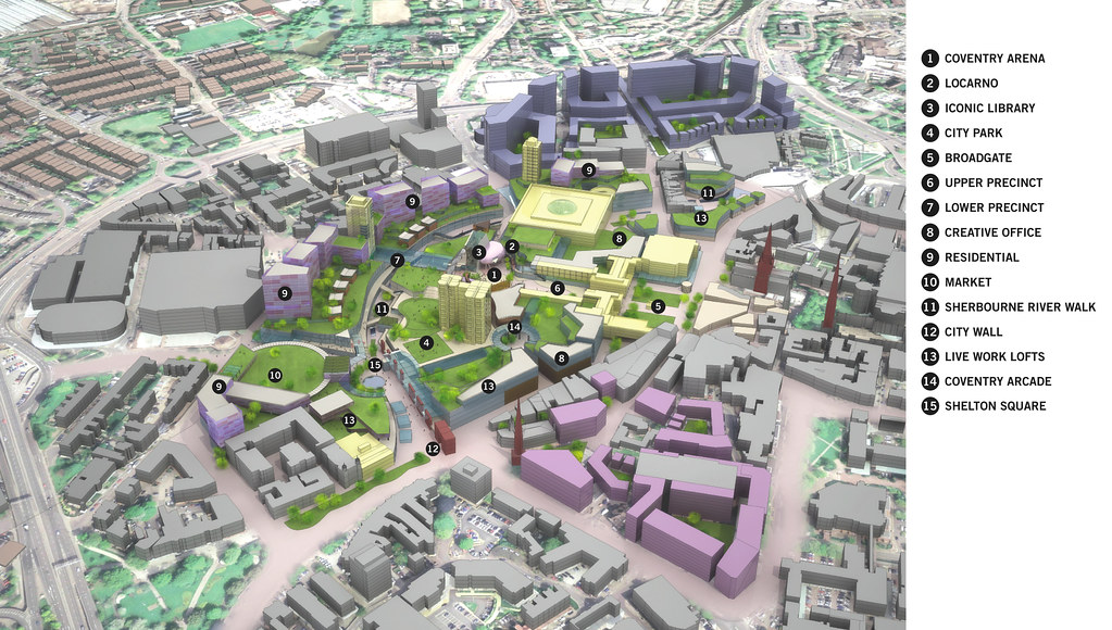 Diagram of Coventry City Centre Final Masterplan Flickr