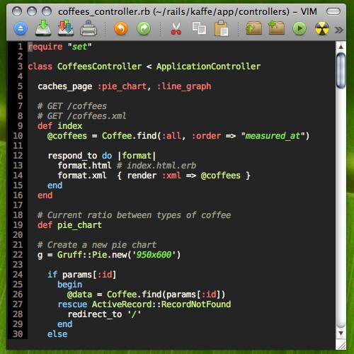 Define Pie Chart: MacVim with the Wombat colorscheme | Editing a Rails applicau2026 | Flickr,Chart