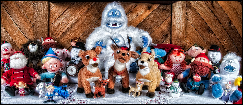 xmas display]   Rudolph the Red-Nosed Reindeer characters ...