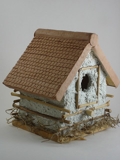 Polymer Clay Birdhouse (Side View) | by CraftyGoat