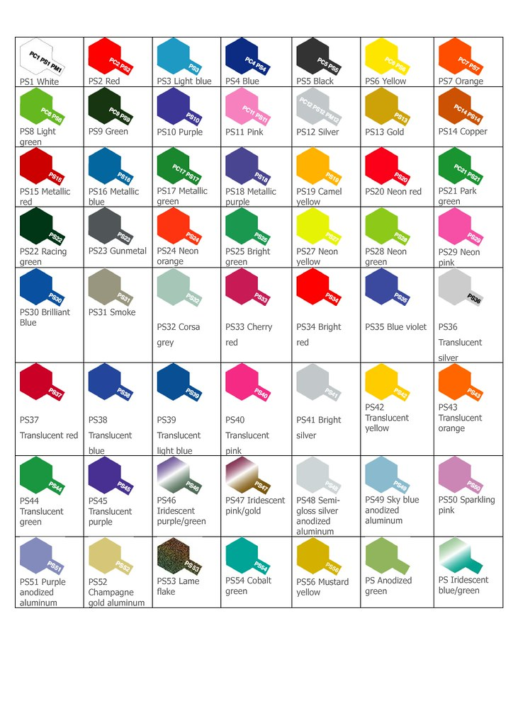 tamiya ps color chart_1 by crazymav - Tamiya Color