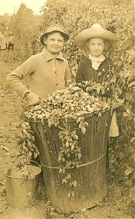 Two children with hops basket | by OSU Special Collections & Archives : Commons