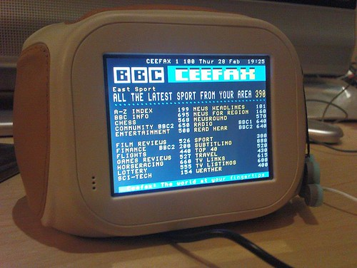 Ceefax on my Chumby! | by gingerbeardman