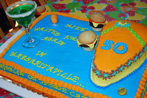 Margaritaville Jimmy Buffet Cake | by The Cupcake Mom