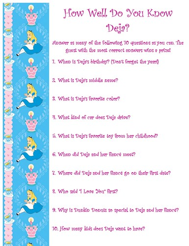 dejas bridal shower questions game by unsupervised