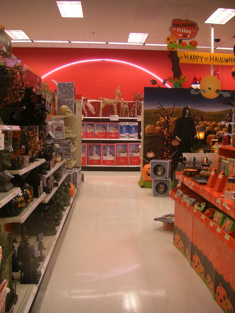 The Halloween Aisle At Target Ends In Christmas Decoration