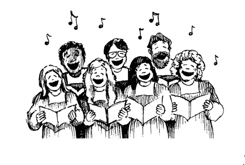 Image result for choir cartoon
