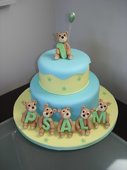 Psalm's 1st Birthday Teddy Bear Cake | by 4GoodnessCake!