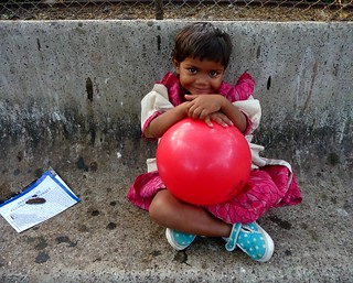 kajal and her big balloon! | by marian_spiers
