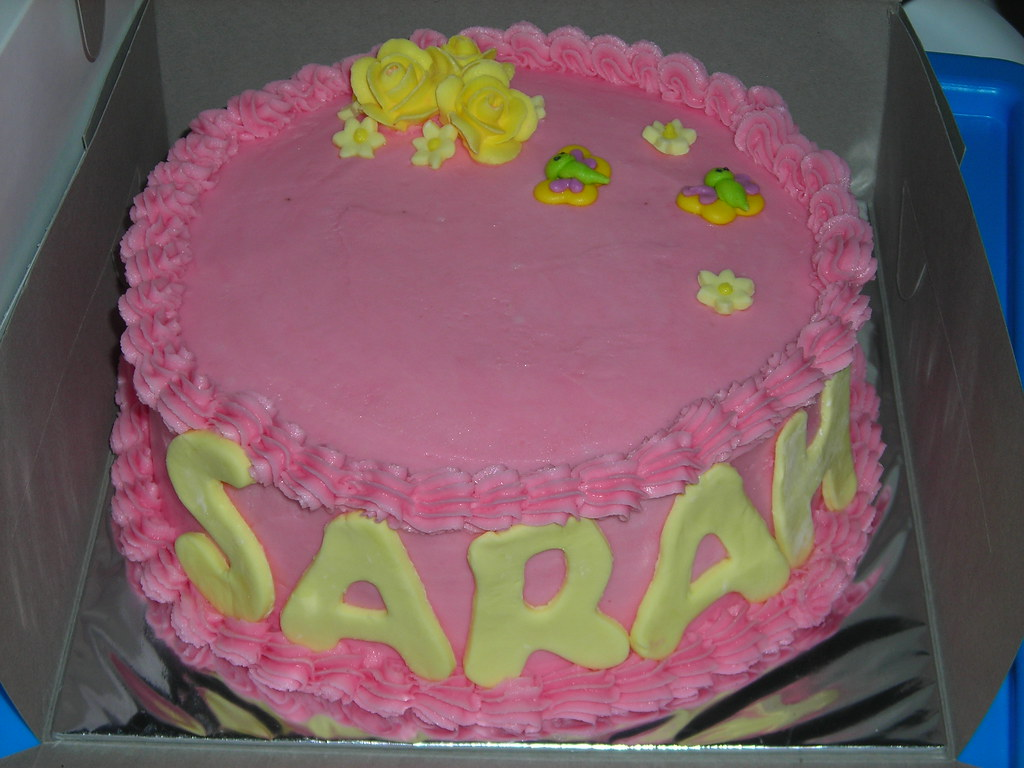 7 Sarah Birthday Cake Close Up Of The 7 Birthday Cake Flickr