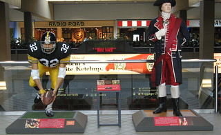 Franco Harris and George Washington in Pitt Airport! | by Brooklyn Bridge Baby