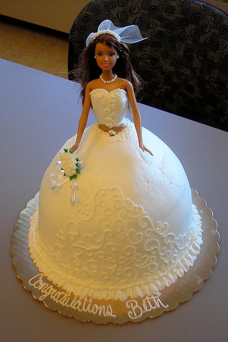 Barbie Doll Bridal Shower Cake