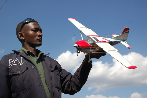 Philip Isohe and his finished airplane | by whiteafrican