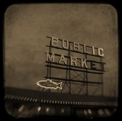 Public Market Sign at Pikes Place Market | by baronCORONADO