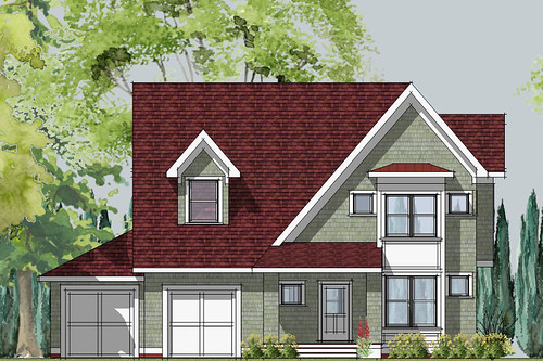 Small House Front Elevation In Raipur : Hastings small cottage front elevation house designed by
