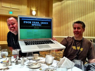 Fuck, yeah, Jared Spool! With Mike and Bill | by Jeffrey
