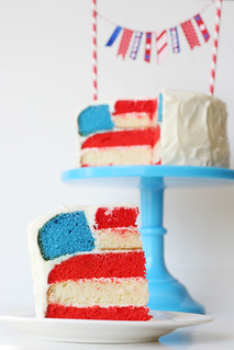 4th of July Flag Cake | by Glorious Treats
