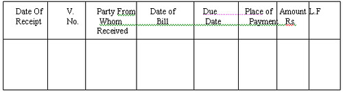 Receivable book format It is Bills Receivable book format – Bill Receivables