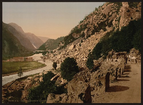 [On the road from Laatefos to Odde (i.e. Latefoss to Odda), Hardanger Fjord, Norway] (LOC) | by The Library of Congress