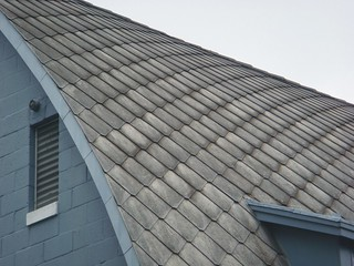 Asbestos Cement Roof Shingles Pattern Overlapping