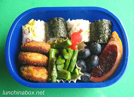 Mini rice ball bento lunch for preschooler | by Biggie*