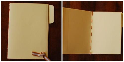 Manila Folder Mini Blank Book
