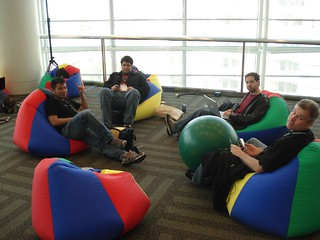 Chilling in Google's beanbag chairs | by josephsmarr
