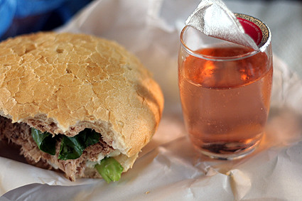 pan bagnat and rosé | by David Lebovitz