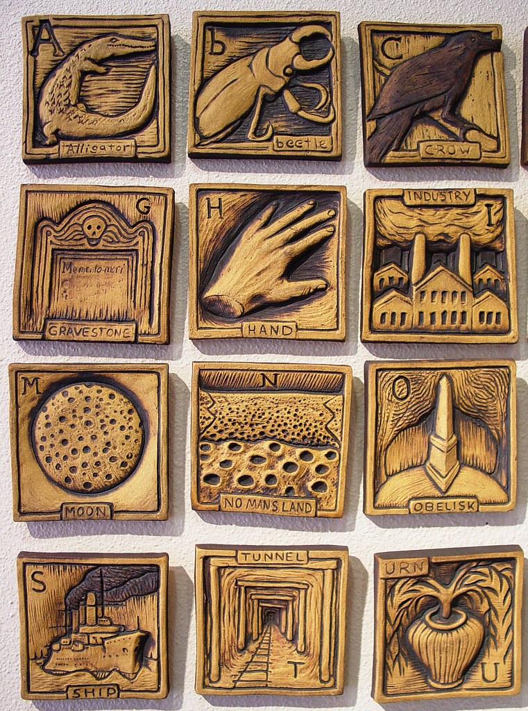 Alphabet Tiles 1 By John White American Museum Of Ceramic Flickr